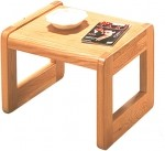 HPFI 7900 Series Sled Base End Table Hardwood Veneer Top (HPFI-7923)