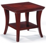 HPFI Nexstep Series End Table Mahogany or Walnut Finish