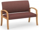 HPFI Unos Series Waiting Room Loveseat w/ Hardwood Construction 60+ Fabric/Leather Options (HPFI-906)