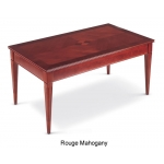 HPFI Marquet Series Coffee Table Honey Cherry or Rogue Mahogany Finish (HPFI-VTX110)