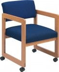 Lesro Classic Open Back Series Guest Chair w/ Casters Sled Base (LS-C1101C3)
