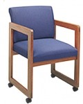 Lesro Classic Full Back Series Guest Chair w/ Casters (LS-C1401C3)