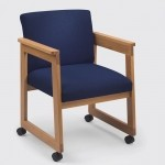 Lesro Classic Series Extended Arm Guest Chair w/ Tapered Arms (LS-C1401D4)