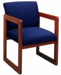 Lesro Classic Full Back Series Guest Chair w/ Sled Base (LS-C1401G3)