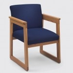 Lesro Classic Series Extended Arm Guest Chair w/ Tapered Arms (LS-C1401H4)