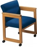 Lesro Classic Extended Arm Series Guest Chair w/ Casters