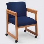 Lesro Classic Series Extended Arm Guest Chair w/ Tapered Arms (LS-C1451D4)
