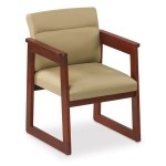 Lesro Classic Series Extended Arm Guest Chair w/ Sled Base (LS-C1451H4)