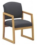 Lesro Chelsea Series Guest Chair w/ Solid Hardwood Construction (LS-K1301G3)