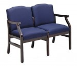 Lesro Madison Series 2 Seat Guest Chair w/ Solid Hardwood Construction (LS-M2201G5)