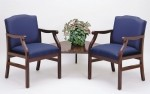 Lesro Madison Series 2 Seat Guest Chair w/ Connecting Corner Table  (LS-M2221G5)