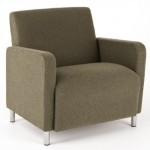 Lesro Ravenna Series Guest Chair With 500 lb. Weight Capacity and 100+ Fabric Options  (LS-Q1601G8)