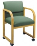 Lesro Ergo Back Contour Series Guest Chair w/ Casters Sled Base (LS-R1201C3)