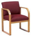 Lesro Contour Series Full Back Reception Chair w/ Sled Base (LS-R1401G3)