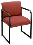 Lesro Sheffield Series Full Back Reception Chair w/ Sled Base (LS-S1401G3)