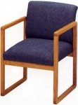 Lesro Tempe Series Reception Chair w/ Solid Hardwood Construction (LS-T1401G3)