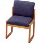 Lesro Tempe Series Armless Reception Chair w/ Solid Hardwood Construction (LS-T1402G3)