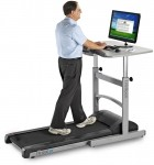 LifeSpan Fitness Walking Treadmill Desk w/ Height Adjustable Desk (LSP-TR1200-DT)