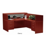 Mayline Aberdeen Series Reception Desk w/ Reception Return Screen (MAY-AT36)