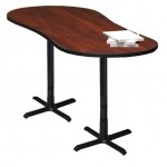 "Mayline Peanut Shape Bar Height 42""H Bistro Table ""X"" Base"