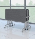 Mayline Cohere Flip And Nest Training Tables Locking Casters