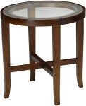 Mayline Illusion Series End Table w/ Glass Top