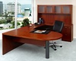 Mayline Mira Series U Shape Modern Peninsula Desk