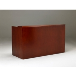 Mayline Mira Series Reception Desk w/ Two Pedestal Files  (MAY-MRSBB)