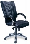 Mayline Mercado Leather Series President Office Chair w/ Deep Pillow-Style Cushions (MAY-PR)