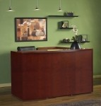 Mayline Luminary Series Reception Desk w/ Top Grade North American Veneers  (MAY-RSRBF)