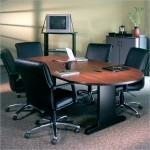 Mayline CSII Racetrack Shaped Conference Table w/ Integrated Cable Channels (MAY-RXXV)