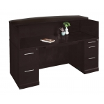 Mayline Sorrento Series Reception Desk w/ Optional Marble Counter Top  (MAY-SRCD)