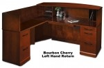 Mayline Sorrento Series Wood Veneer Reception Desk