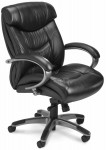 Ultimo Series 200 by Mayline Mid Back Leather Office Chair w/ Padded Loop Arms (MAY-UL230M)