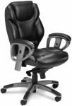 Ultimo Series 300 by Mayline Mid Back Leather Office Chair w/ 2-to-1 Synchro Tilt (MAY-UL330M)