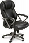 Ultimo Series 300 by Mayline High Back Leather Desk Chair w/ Pronounced Lumbar Support (MAY-UL350H)