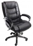 Ultimo Series 500 EZ-Assemble High Back Leather Office Chair w/ Deluxe Knee-Tilt Control (MAY-UL550HEZ)