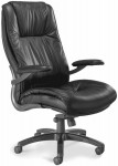 Ultimo Series 100 by Mayline High Back Genuine Leather Desk Chair w/ Padded Cantilevered Armrests (MAY-ULEX)