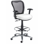 "Nightingale LXO Mid Back Mesh Drafting Stool With Foot Ring - Seat Adjustment 24-34""H  (NG-6000DS)"