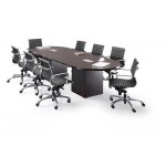 Ignot Series Racetrack Shaped Conference Table w/ Square Base
