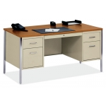 Office Source Double Pedestal Metal Desk