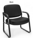 "OFM Big and Tall Bariatric Anti-Microbial/Anti-Bacterial Vinyl Guest Chair 23"" Wide Seat 400 lb. Weight Capacity"