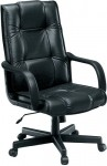 OFM Executive Hi-Back Leather Office Chair w/ Durable Polyurethane Arms (OFM-520L)