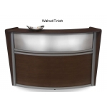 OFM Single Marque Plexi-Reception Station With Silver Frame