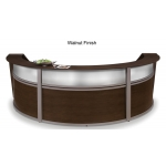 OFM Triple Marque Plexi-Reception Station With Silver Frame (OFM-55313)