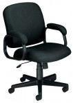 OFM Executive Low Back Task Chair w/ Fabric Padded Steel Tube Arms (OFM-660)