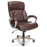 OFM Avenger Series Big & Tall Brown Faux Leather Executive Chair 400 lb. Rating