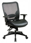 Office Star Professional Matrex Back Layered Leather Ergonomic Chair with 4-Way Adjustable Arms & Seat Slider (OS-68-50764)
