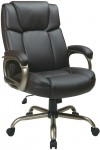 Office Star Espresso Eco Leather Big And Tall Computer Chair Supports Up To 350 lbs. (OS-EC12801-EC1)