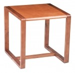 Office Star Oak Finish Reception Area End Table